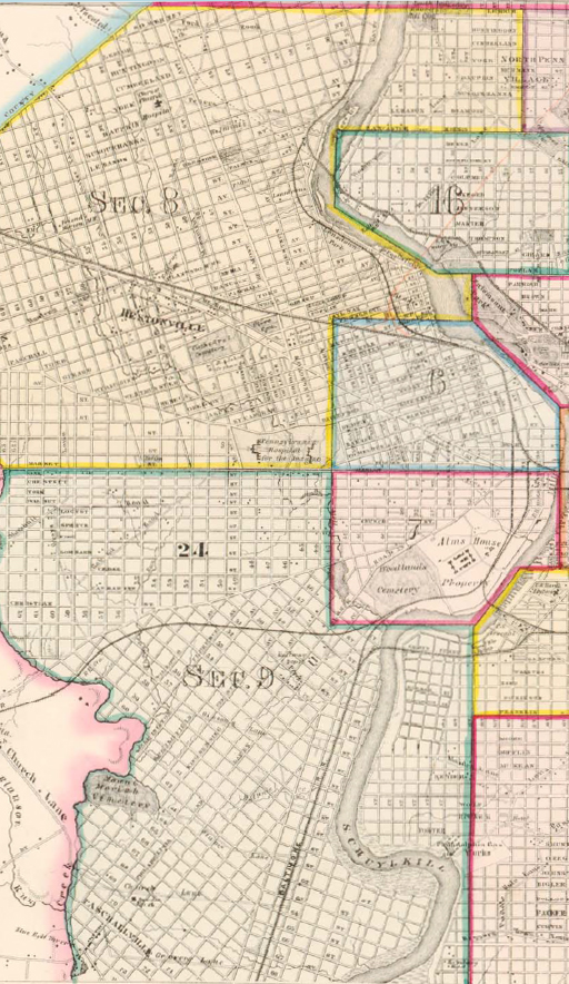 1862 Atlas of the City of Philadelphia - Index Map