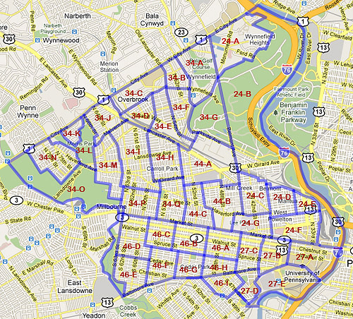 West Philadelphia Census Tracts 1940 and 1950
