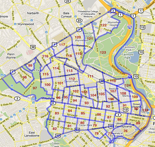 West Philadelphia Census Tracts 1970, 1980, and 1990