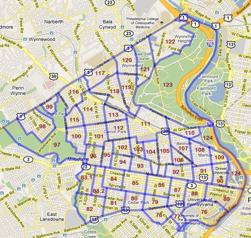 West Philadelphia Census Tracts 2000