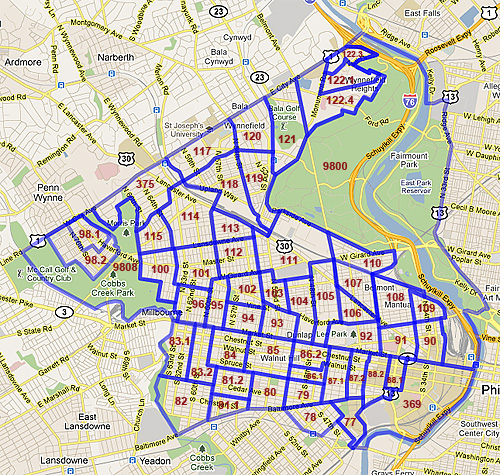 West Philadelphia Census Tracts 2010