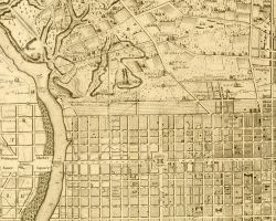 "1802 Idealized ""Plan"" of West Philadelphia, by Charles P. Varle"