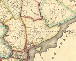 1816 Map of Philadelphia County, by Melish
