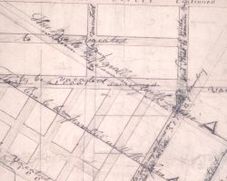 1833 Survey Map of West Philadelphia, by Suplee