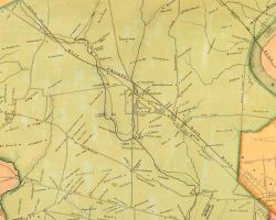 1849 Map of Blockley Township, by S.M. Rea and J. Miller