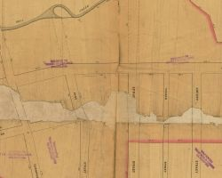 1851 Plan for Western Part of Hamilton Village in West Philadelphia, by Milller
