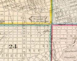 1862 Atlas of the City of Philadelphia - Index Map