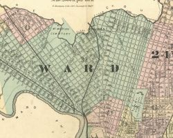 1872 Atlas of the 24th and 27th Wards, West Philadelphia - Index Map