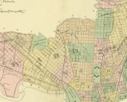 1878 Atlas of the 24th and 27th Wards, West Philadelphia