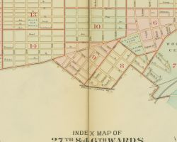 1909 Atlas of the 27th and 46th Wards, West Philadelphia