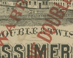 Tag from Callaghan & Brother mill, c. 1900