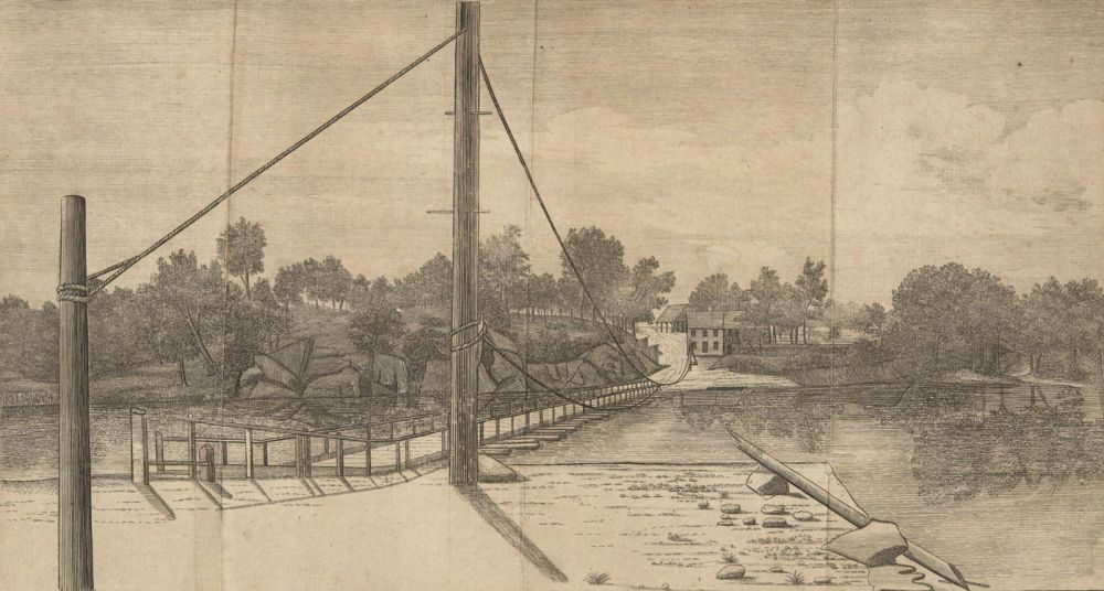An East View of Gray's Ferry, on the River Schuylkill