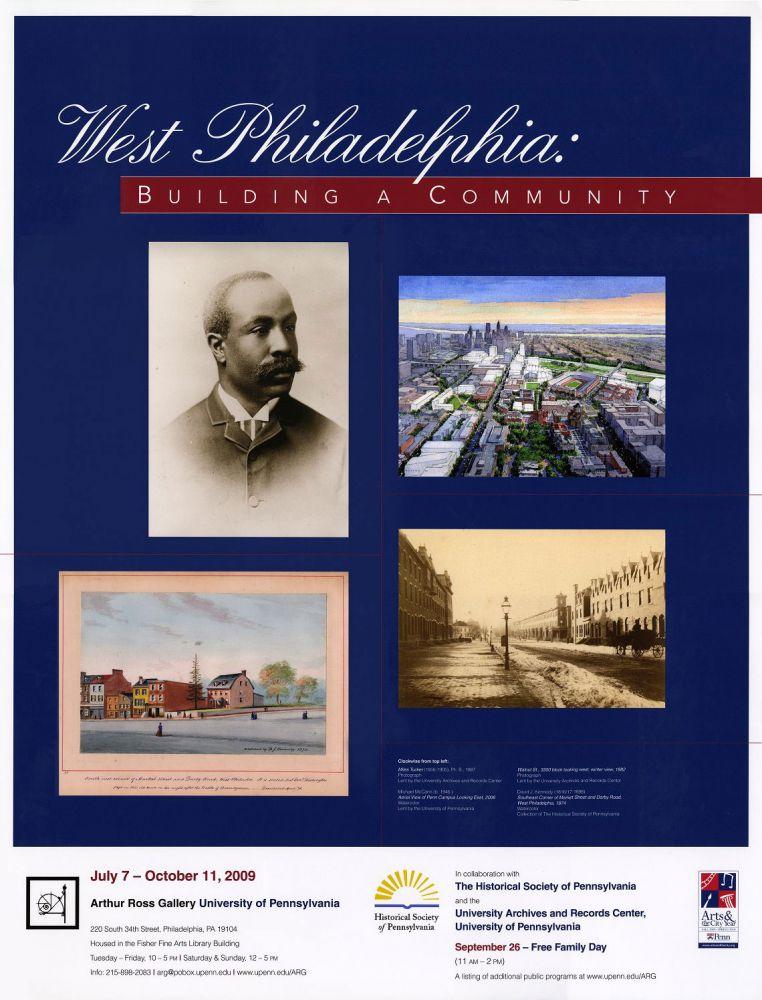 Exhibit Poster, West Philadelphia: Building a Community