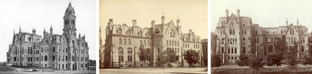 First Three Buildings on Penn's West Philadelphia Campus