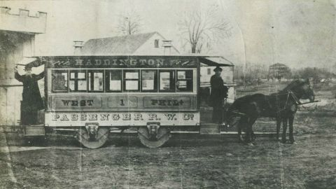 The First Horse-Car to Haddington Terminus